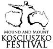 Mound and Mount Kosciuszko Festival logo